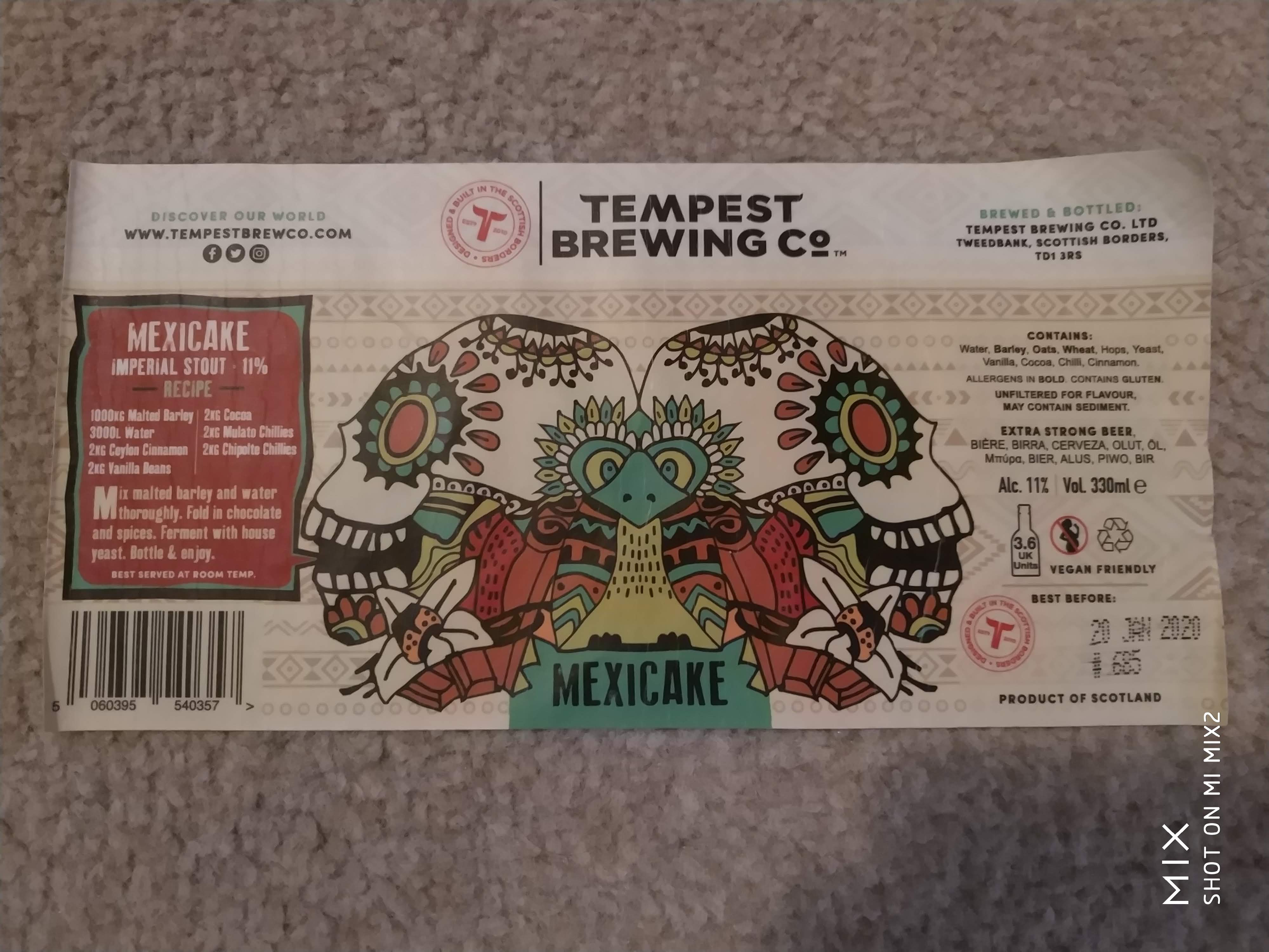 Tempest Brewing Co - Mexicake